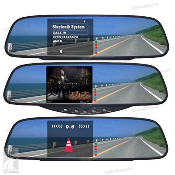 Так выглядит парктроник-зеркало