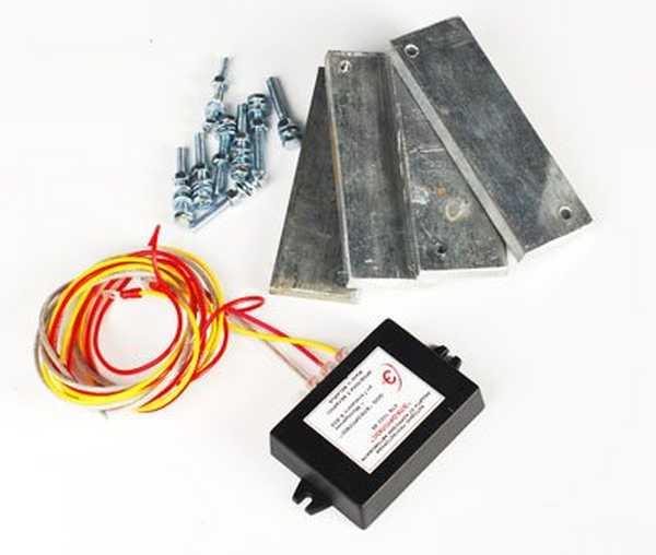 Комплект электрохимической защиты от коррозии автомобиля