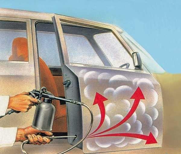 Защита автомобиля от коррозии в труднодоступных местах происходит с использованием специальных средств, распыляемых в технологические отверстия при помощи пульверизатора
