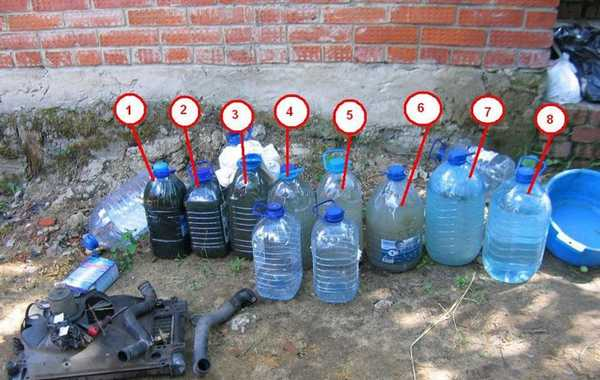 Промывка системы охлаждения двигателя может проводиться до 10 раз