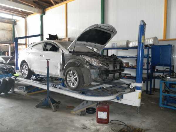 Платформенный стапель для кузовного ремонта