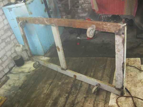 Самодельный стапель для кузовного ремонта