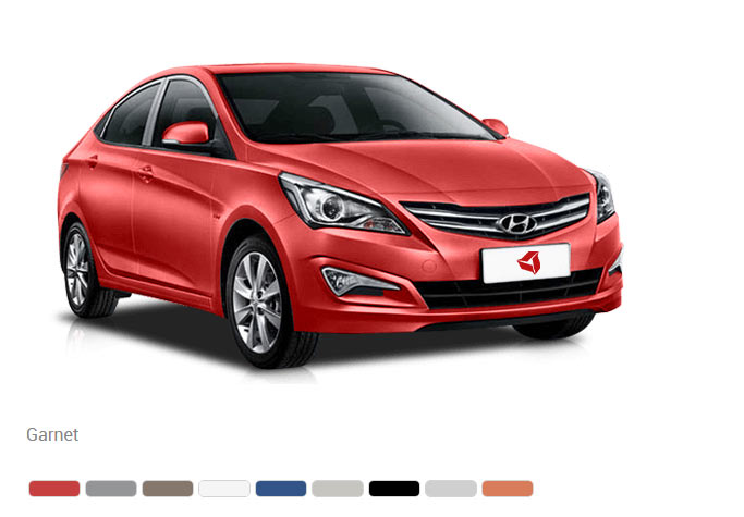 Доступны 9 цветов кузова Hyundai Solaris