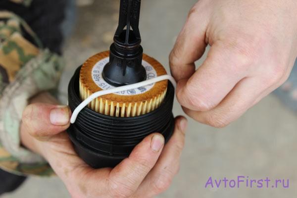 Уплотнительное кольцо крышки масляного фильтра Шкода Фабия