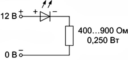 Резистор для светодиода 12в