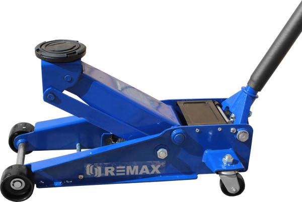 Подкатной домкрат REMAX с поднятой площадкой. Грузоподъемность 3 тонны, высота подхвата 133 мм, высота подъема 465 мм (цена около 5 тыс. руб)