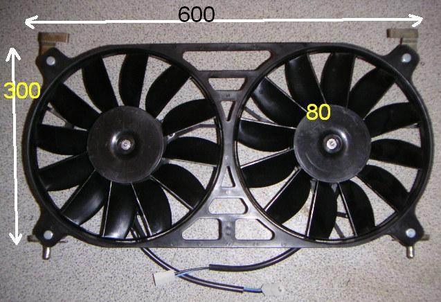Электрические вентиляторы охлаждения двигателя Шевроле Нива