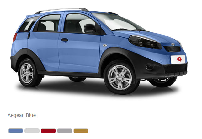 Цвета кузова Chery IndiS: Aegean Blue, Chery White, Noble Red, Nasdaq Silver, Crown Gold