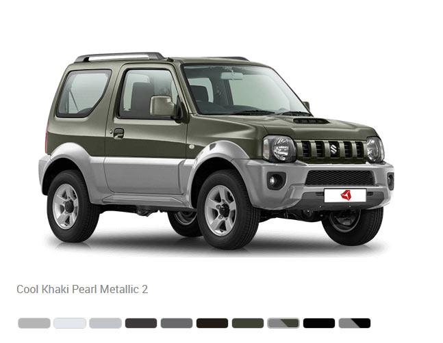 Доступные цвета кузова Suzuki Jimny